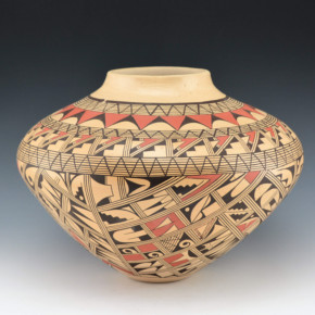 Silas, Venora – Large Jar with Geometric Designs