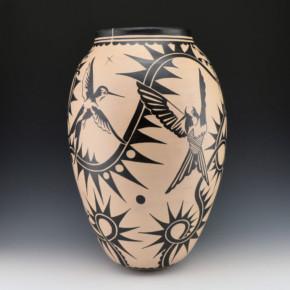 Ortiz, Virgil – Large Jar with Dragonflies and Hummignbirds