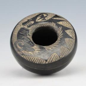 Haungooah, Art Cody – Mini Bowl with Avanyu & Ram (1975)