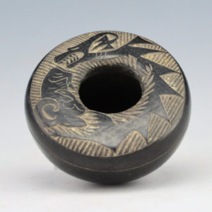Haungooah, Art Cody – Mini Bowl with Avanyu & Ram (1975)