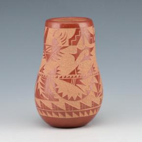 Haungooah, Art Cody -Jar with Rain Clouds & Bear Paws (1974)