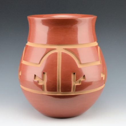 Whitegeese, Daryl  – Red Water Jar with Rainbow Design