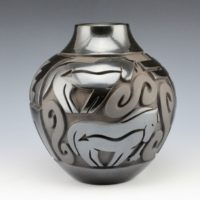 Begay, Jr., Harrison – Jar with Heartline Horses & Dragonflies
