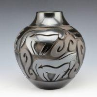 Begay, Jr., Harrison – Jar with Heartline Horses & Dragonflies