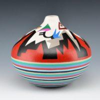 """Namingha, Les – """"Vista"""" Hopi Birds Jar"""