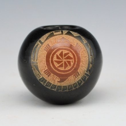Tapia, Mae – Black and Sienna Mini Bowl with Turtle