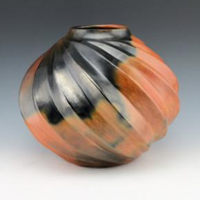 Manymules, Samuel  – Large Jar with Sharp Melon Swirls