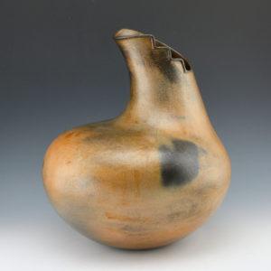 McHorse, Christine -Large Gourd Jar with Lightning Rim