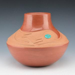 Tse-Pe, Dora – Red Jar with Avanyu (1990)