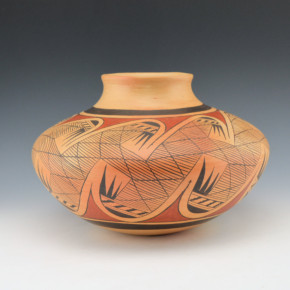 Nampeyo, Leah  – Large Jar with Migration Pattern (1960's)