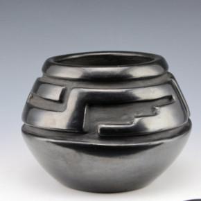 Tafoya, Margaret – Bowl with Rain & Lightning Design (1960's)