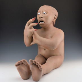 "Swentzell, Roxanne – ""In Crisis"" Original Clay Figure"