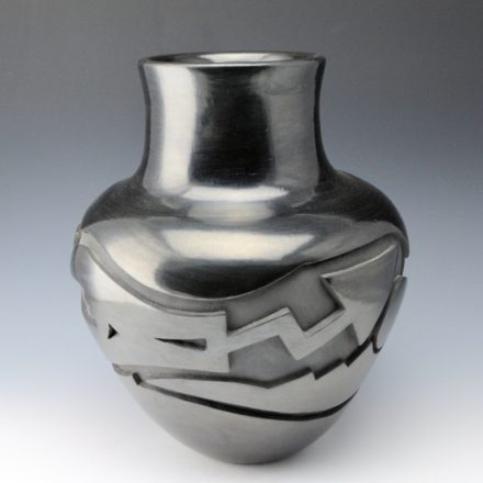 Tafoya, Sherry – Large Jar with Carved Avanyu