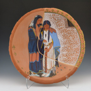 """Folwell, Susan – """"The Wedding"""" Large Open Bowl"""