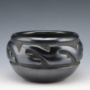 Tafoya, Margaret – Bowl with Kiva Steps in a Cloud Design (1940's)