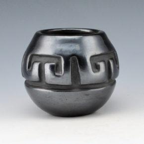 Tafoya, Margaret -Jar with Walking Bear Paw & Rain Designs (1980's)