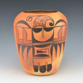 "Ami, Mary ""Buffalo Maiden"" – Jar with Birds (1950's)"