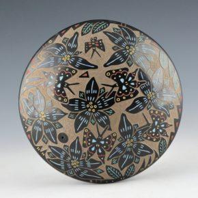 Tafoya, Ray  – Large Seedpot with Butterflies & Flowers (1987)