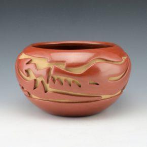 Naranjo, Teresita  – Bowl with Carved Avanyu Design