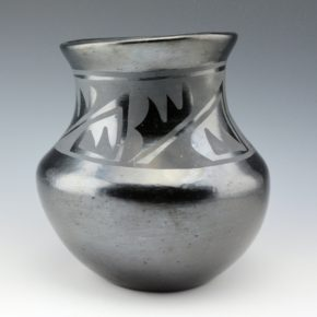 Pena, Isabel – Water Jar with Rain & Mountain Designs (1930's)