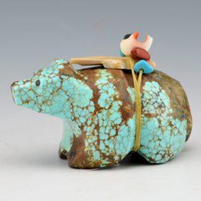 Hahooty, Michael – Spiderweb Turquoise Bear with Arrowhead
