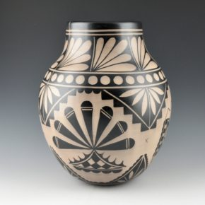 Ortiz, Virgil – Traditional Jar with Plant and Cloud Designs