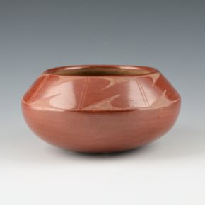 "Martinez, Maxamiliana ""Anna"" – Red Bowl with Rain Designs (1926)"