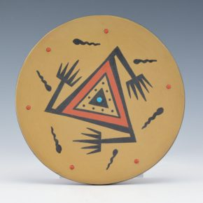 Gonzales, Cavan  – Polychrome Plate with Old Style Avanyu