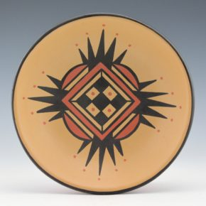 Gonzales, Cavan  – Polychrome Bowl with Corn and Plant Designs