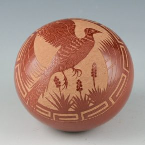 Medicine Flower, Grace – Seedpot with Pheasant (1980)