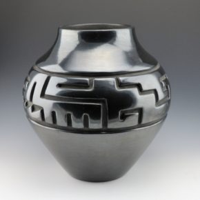 Tafoya, Margaret – Large Jar with Rain & Kiva Step Designs (1950's)