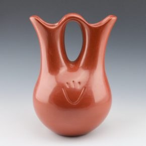 Tafoya, Margaret – Red Wedding Vase with Bear Paws (1980's)