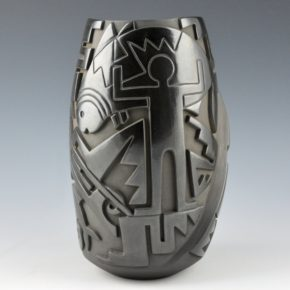 """Garcia, Tammy – """"Another Fish Tale"""" Carved Jar (2004)"""