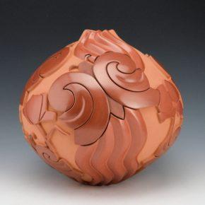 Garcia, Tammy – Jar with Butterflies & Melon Rib Cloud Swirls (2000)