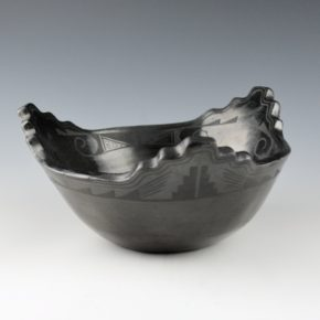Roybal, Tonita – Terraced Bowl with Cloud Designs (1920's)