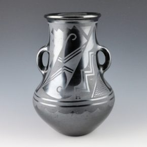 Roybal, Tonita – Jar with Handles and Lightning Designs (1930's)