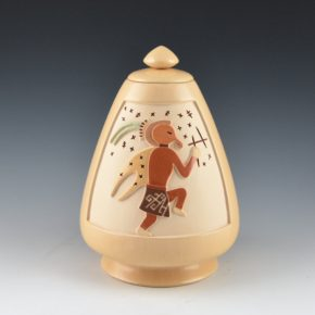 Qoyawayma, Al – Lidded Jar with Mosquito Man Design