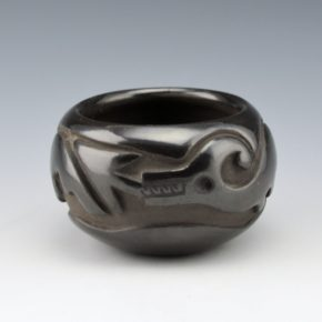 Blue Corn – Bowl with Carved Avanyu (1960's)