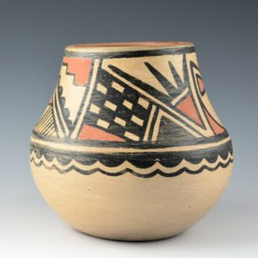 Naranjo, Florence Aguilar – Polychrome Jar with Cloud, Rain and Snow Designs (1950s')