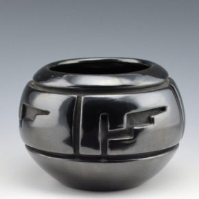 Trammel, Jennie – Bowl with Rain and Mountain Designs (1970's)