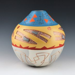 Namingha, Les – Jar with Carved Hopi Birds