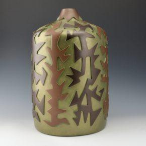 Namingha, Les – Large Carved Jar with Corn Designs