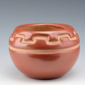 Tafoya, Margaret – Red Bowl with Mesa and Rain Designs (1980's)