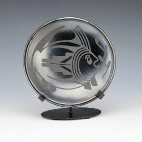 """Martinez, Maria – Small """"Fish"""" Plate (Maria + Popovi,1956-9)"""