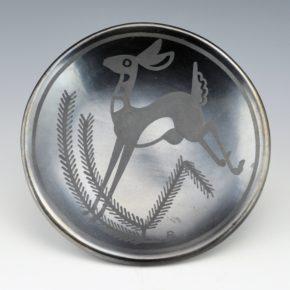 "Martinez, Maria – ""Pueblo Deer"" Plate (Maria + Popovi,1956-9), Published"