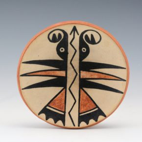 Martinez, Maria – Polychrome Plate with Butterfly Design (1920's)