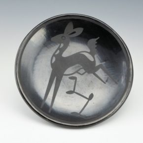 "Martinez, Maria – ""Prancing Deer"" Plate (Maria + Popovi,1956-9)"