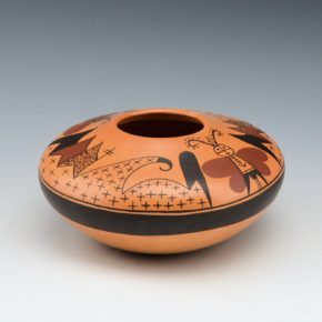 Tahbo, Mark  – Bowl with Moth Pattern