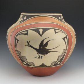 Medina, Sofia – Large Jar with Birds & Zia Sun Designs (1971)
