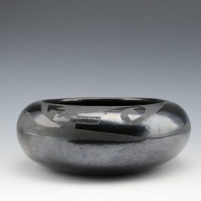 Aguilar, Susana -Bowl with Avanyu (1920's)
